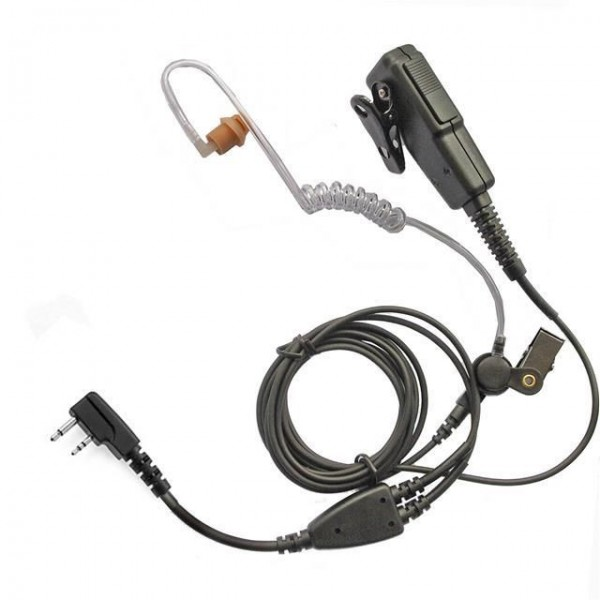 Icom-earpiece-two-wire-with-acoustic-tube-long-Kevlar-cabling-360613448884