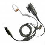 Motorola-GP340-multipin-two-wire-earpiece-acoustic-tube-long-Kevlar-cabling-360613421075