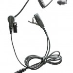 Motorola-earpiece-CP040-2-pin-with-black-clear-acoustic-tubes-361103263726